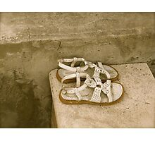 Little Shoes Left Behind Photographic Print