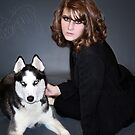 ©2010 Megan- w/ my Siberian Husky by Leah Snyder