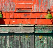 Abandoned Garage Detail, Brooklin, Maine by fauselr