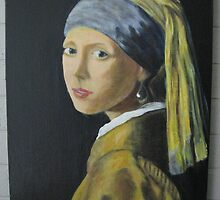 Girl with Pearl Earring Johannes Vermeer by Jsimone