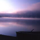 Magical Spirits -- Morning Mist, Thumb Lake, MI by John Carpenter
