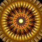 The Golden Radiating Sun Wheel by xzendor7