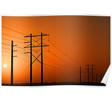 Electric sunrise Poster