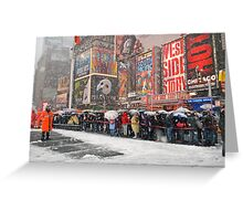 The Snow Must Go On Greeting Card