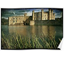 Leeds Castle Across the Moat Poster