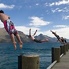 Diving in Queenstown by Rachel  Chaikof