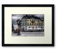 A Square in Uppsala - Uppsala near Stockholm, Sweden Framed Print