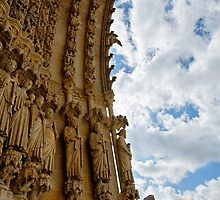 Exterior arch Amiens cathedral, France by buttonpresser