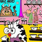 Cow In A China Shop by Londons Times Cartoons by Rick  London