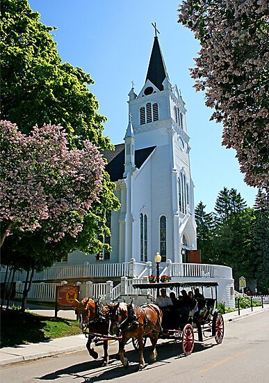 A Simple Life -- Church and Buggy, Michigan by John Carpenter