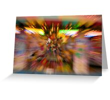 Slow shutter speed zoom burst effect at the Fair Greeting Card