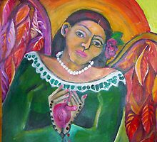 She Wore Her Heart on Her Heart by Ruth OLIVAR MILLAN