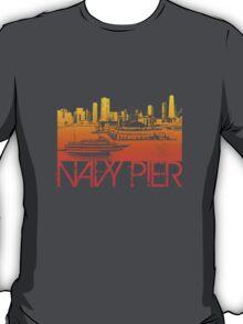 Chicago Navy Pier Skyline T-shirt Design T-Shirt