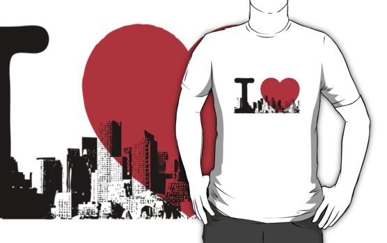 I Heart New York Skyline by FlagSilhouettes