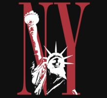 New York NY Statue of Liberty Logo Design by FlagSilhouettes