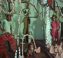 local koorie kids at Art Unit by ArtUnit