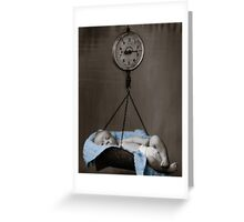Weighing On My Heart Greeting Card