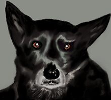 'Jade' Australian Kelpie Pet Portrait by Trish Loader