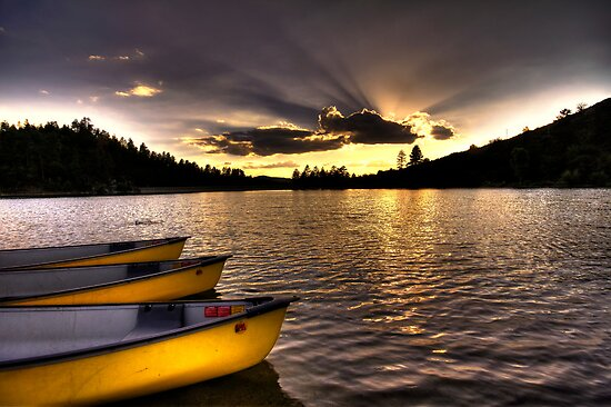 Yellow Canoes by Bob Larson