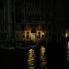 Midnight View from Venice Academia Bridge by Keith Richardson