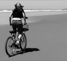 Bicycle on the Beach by paintingsheep