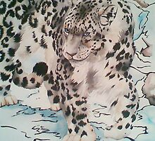 On Padded Paws - Snow Leopard by MCWebster