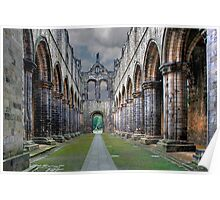 North to South . Kirkstall Abbey , West Yorkshire UK Poster