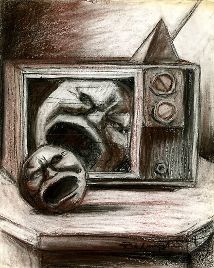 Reality TV Sketch by Rik V. Livingston as Zono Art