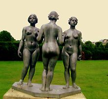 The Three Graces in the Tuilirie Gardens Paris (France)  by Rusty  Gladdish