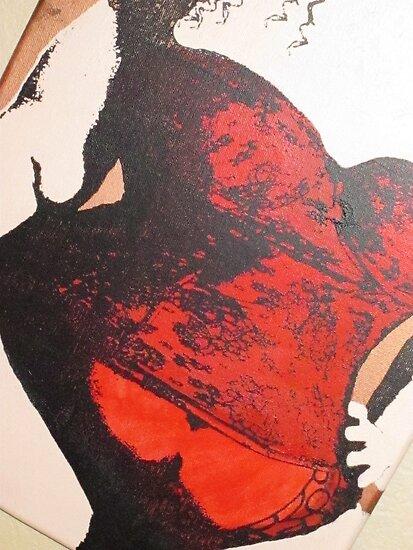 BBW Plus Size Corset Female Painting by FairyTalez
