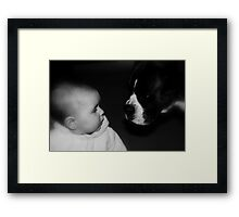 You Don't Say ! -Boxer Dogs Series- Framed Print