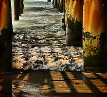 Pier Shadows by Barbara  Brown