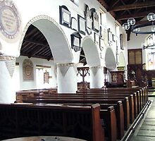 Inside Hawkshead Church, Lake District, UK. by Roy  Massicks