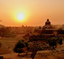 Mysterious Mrauk Oo at dusk by Brian Bo Mei
