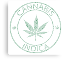 Cannabis indica stamp Canvas Print