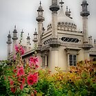 Brighton Royal Pavilion Behind Flowers by Karen Martin
