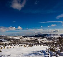 Snowy Scottish landscape by Gabor Pozsgai