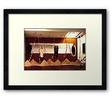Cathy McKinnon's exhibition Framed Print