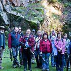 Tassie Redbubblers at Lilydale Falls Tasmania by Sonya Byrne
