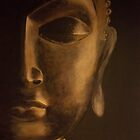 buddah detailed canvas painting by ymadezigns