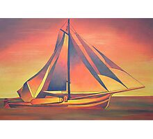 Sienna Sails at Sunset Photographic Print