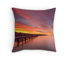 Reflections of Ocean Reef  Throw Pillow