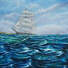 Sailing - oil painting by Avril Brand