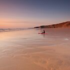 Gazing into the sunset - Watergate Bay, Cornwall, UK by Zoë Power