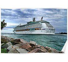 Cruise ship leaving Miami Poster