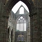 Through an arch, to the nave - Tintagel Abbey by StitchingDreams