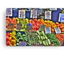 Market Fruit & Veggies Canvas Print