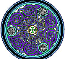 Blue celtic medallion by Spiritmaiden