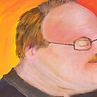 My Dad in Orange and with Hair by MIchelle Thompson