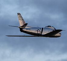 CAC 27 Sabre fly by on last light 04 by poleposition